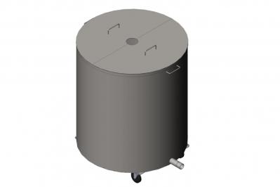 Дежа для ЛКМ 1200 литров, емкость нержавеющая