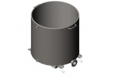 Дежа для ЛКМ 1000 литров с рубашкой охлаждения, емкость нержавеющая