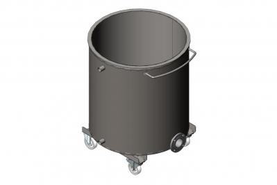 Дежа для ЛКМ 500 литров с рубашкой охлаждения, емкость нержавеющая