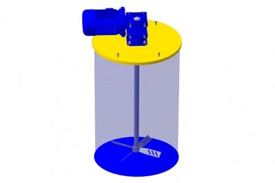 Мешалка для бочки пропеллерная с редуктором