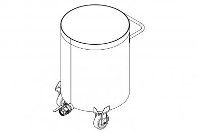 Дежа для ЛКМ 220 литров, емкость нержавеющая