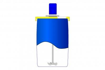 Пропеллерная мешалка для бочки  1500 об. в минуту