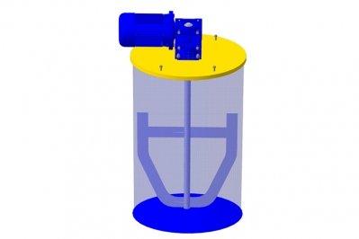 Якорная мешалка для бочки взрывобезопасная